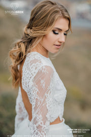 Sophia | Wedding Open Back Lace Topper - StylishBrideAccs