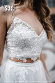 Sparkly Star Bridal Glitter Crop Top - StylishBrideAccs