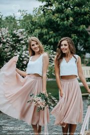 Sunset | Chiffon Bridesmaid Skirt & Waves Silk Top - StylishBrideAccs