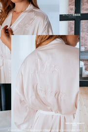 Sweet Dreams | Bridesmaid Light Grey Silk Pajama - StylishBrideAccs