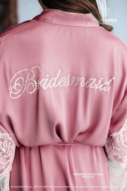 Tenderness | Crystal Bridesmaid Silk Robe - StylishBrideAccs