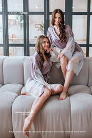 Tenderness | Lilac & Pink Gardenia Bridesmaid Robes - StylishBrideAccs