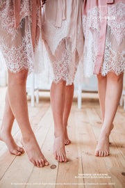 Tenderness | Silk Bridesmaid Robes Blush Palette - StylishBrideAccs