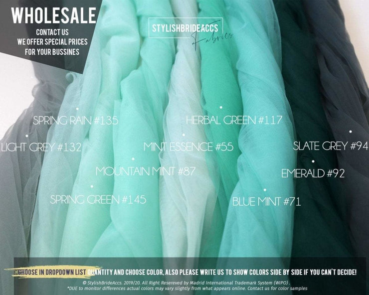 Tulle Fabric for Bridal Dresses & Veils - StylishBrideAccs