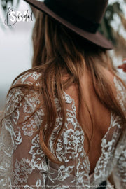Vanessa | Glitter Boho Wedding Dress - StylishBrideAccs