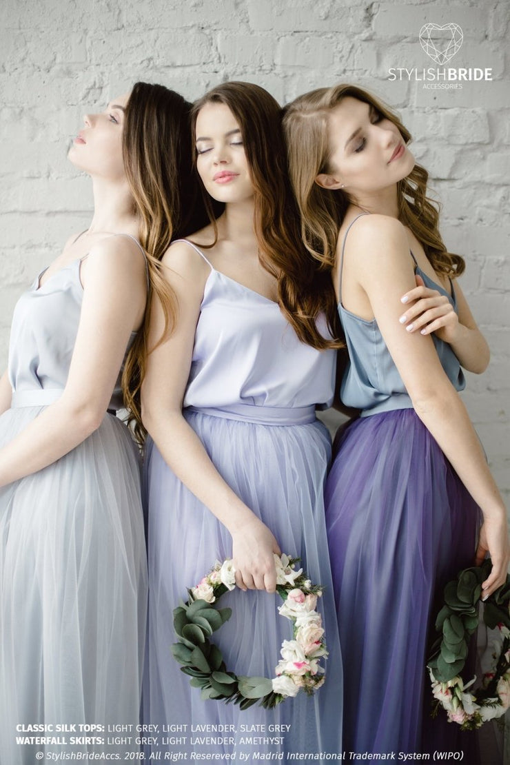 Waterfall | Prom Amethyst Top & Tulle Skirt - StylishBrideAccs