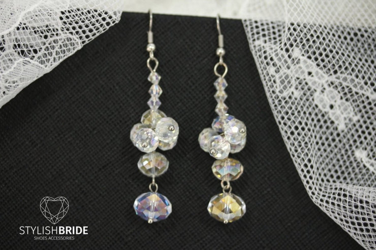 Wedding Crystal Earrings, Bridal Crystal Handmade Earrings, Wedding Handmade Earrings, Handmade Earrings, Handmade jewelry, Wedding Earrings - StylishBrideAccs