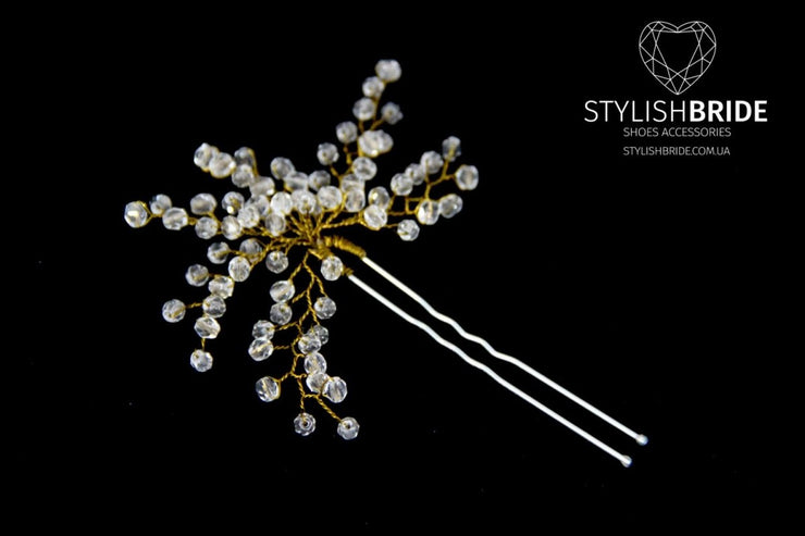 Wedding Crystal Hair Pin, Crystal Hair Pin, Wedding Hair Accessories, Bridesmaid Hair Accessory, Crystal Diamante Hair Grips - StylishBrideAccs