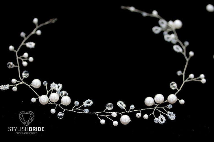 Wedding Pearl Hair Vine, Hair Vine, Pearl Hair Accessories, Pearl Vine, Bridal Hairpiece, Bridal Hair Vine - StylishBrideAccs