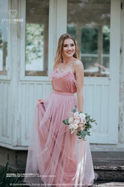 Windy Feather | Prom Cami Top & Waterfall Skirt - StylishBrideAccs