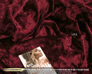 Wine Red Velvet Luxury Fabric - StylishBrideAccs
