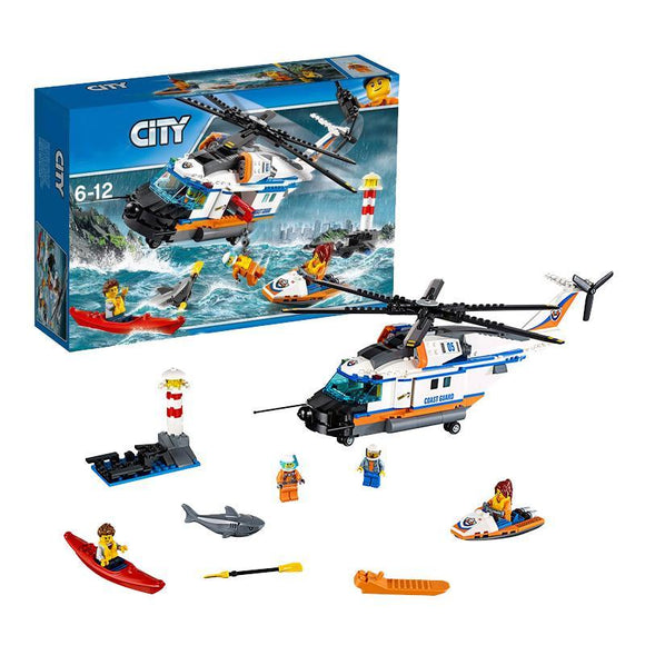 LEPIN 02068 Heavy-duty Rescue Helicopter | City |