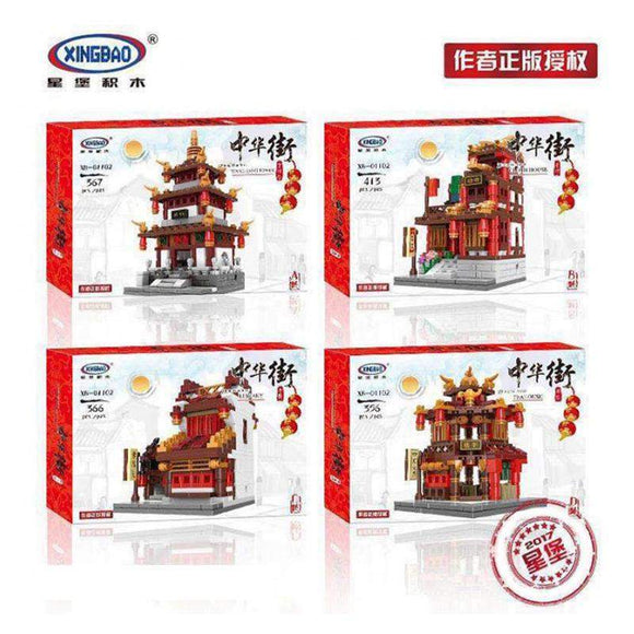 XB 01102 Mini China Town 4-in-1(Pagoda/Silk Shop/Private School/Tavern) | Creator