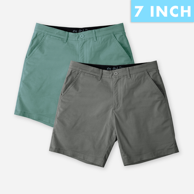 Deep Sea+ Charcoal grey All Day Shorts 2.0 (Stretch) Duo Pack