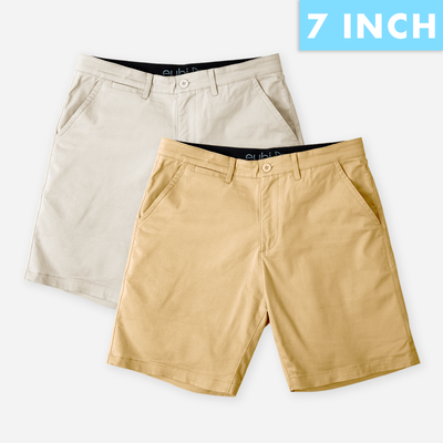 Sandy Brown + Khaki All Day Shorts 2.0 (Stretch) Duo Pack
