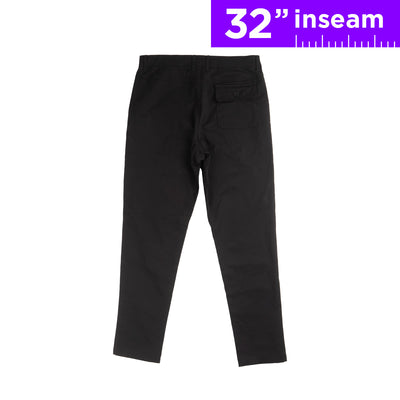 "32"" Solid Black Flex All Day Chino Pants"