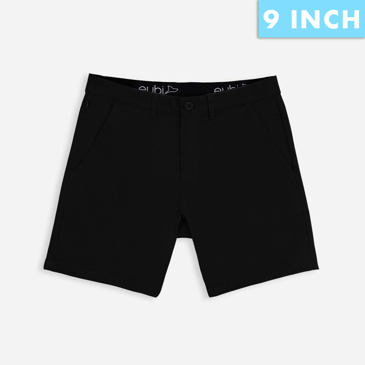 "9"" Solid Black All Day Shorts 3.0 (Stretch)"