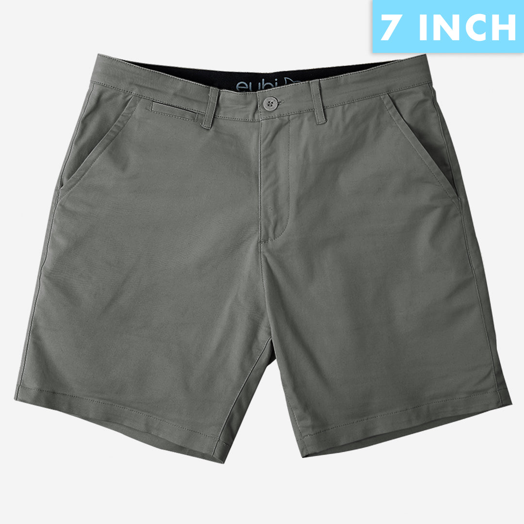 Charcoal Grey All Day Shorts 2.0 (Stretch)