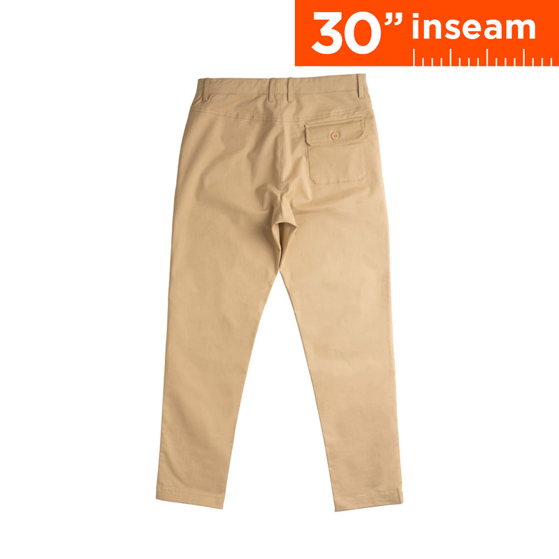 "30"" Khaki Brown Flex All Day Chino Pants"