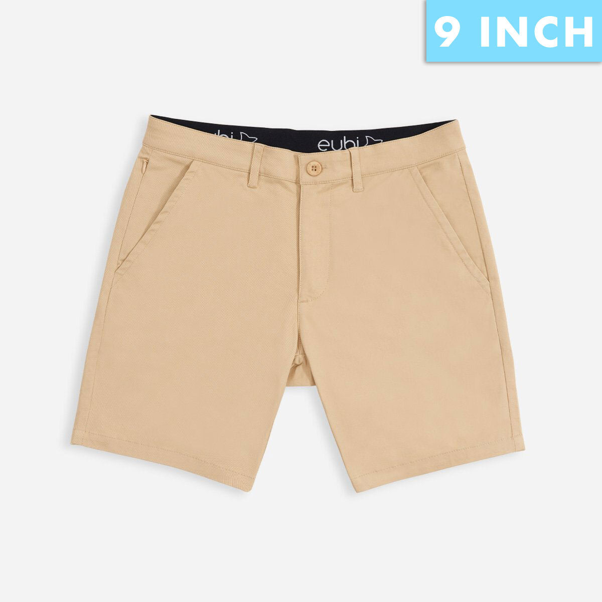 "9"" Khaki Brown All Day Shorts 3.0 (Stretch)"