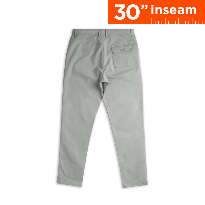 "30"" Ash Grey Flex All Day Chino Pants"