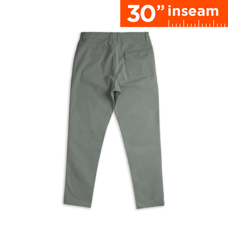 "30"" Charcoal Grey Flex All Day Chino Pants"
