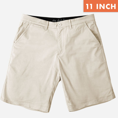 "11"" Sandy Brown + Khaki All Day Chino Shorts Duo Pack"