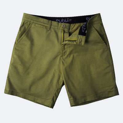 Olive Green All Day Shorts 2.0 (Stretch)