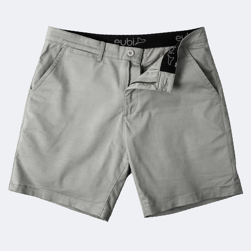 Ash Grey All Day Shorts 2.0 (Stretch)