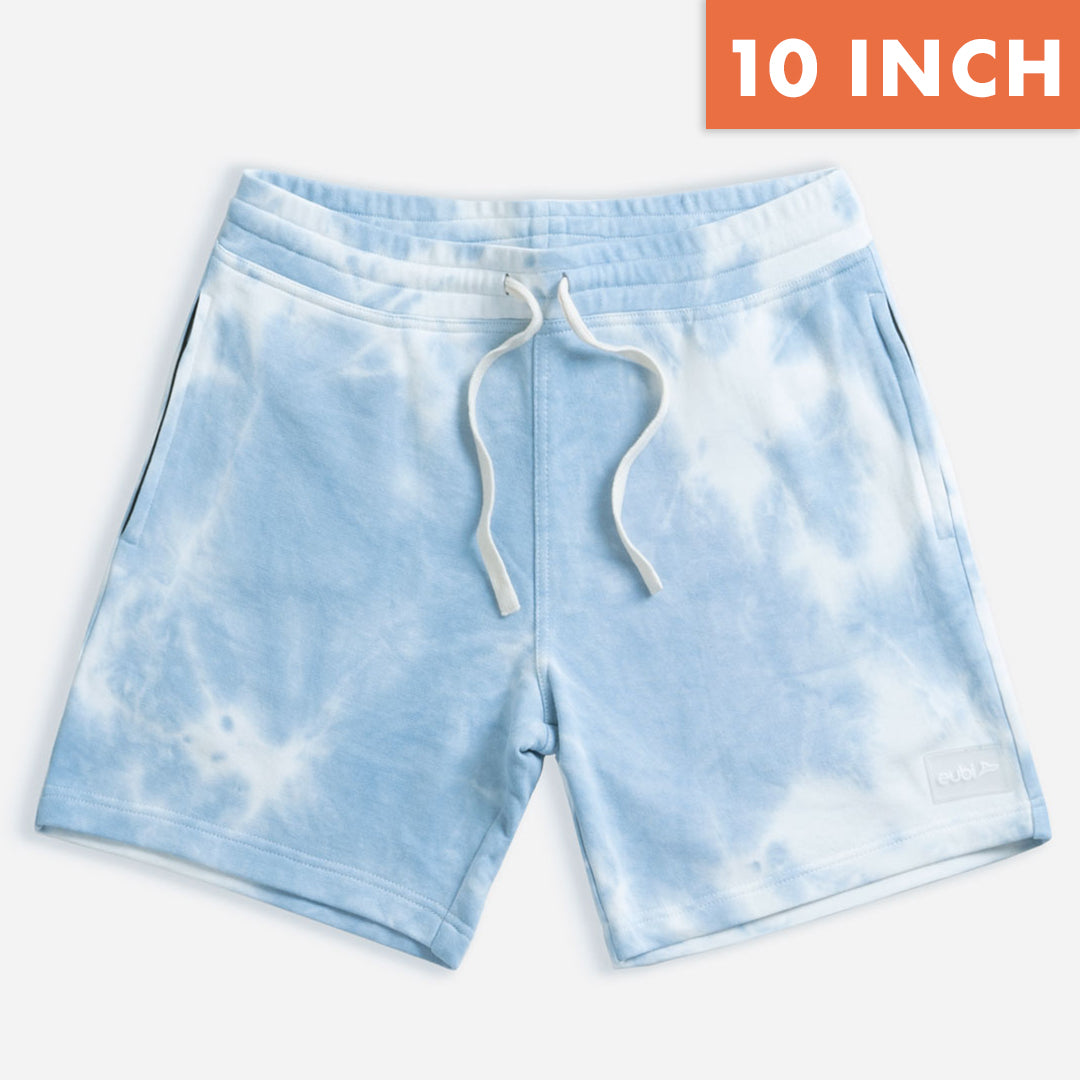 "[LIMITED EDITION] 10"" Blue Tie Dye Lounge Shorts"