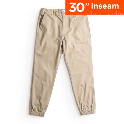 "30"" Sandy Brown Flex All Day Jogger"
