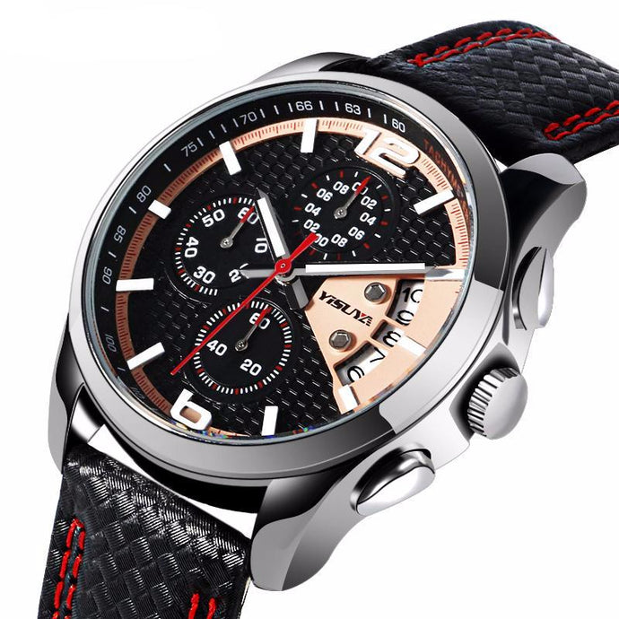 Luxury Military Sports Watch Male Chronograph
