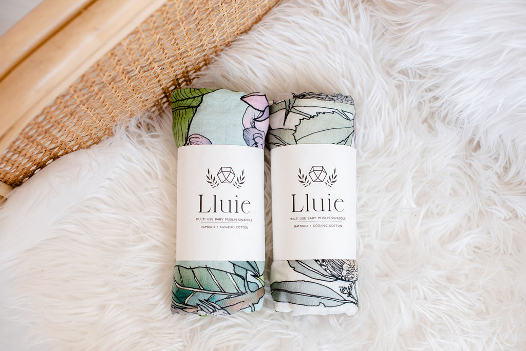 Lluie Australian and Jungle Swaddle Designed by The Scenic Route