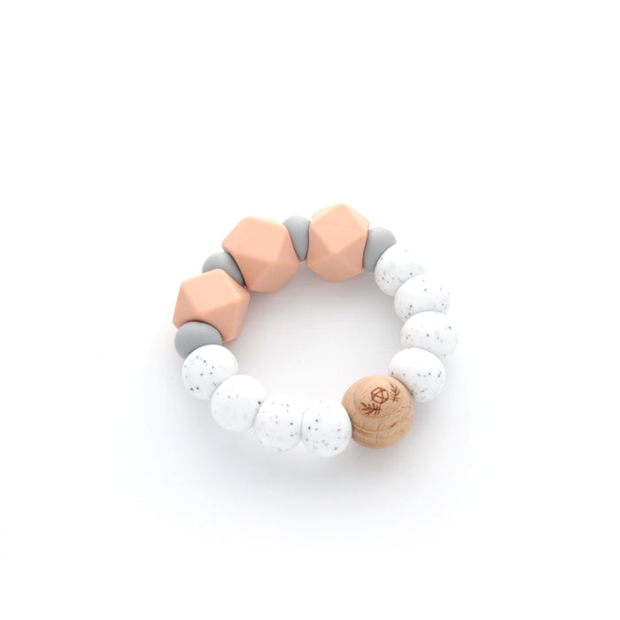 Essential Teether | Teething Ring | Silicone Teether | Peach