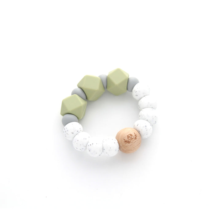 Essential Teether | Teething Ring | Silicone Teether | Sage