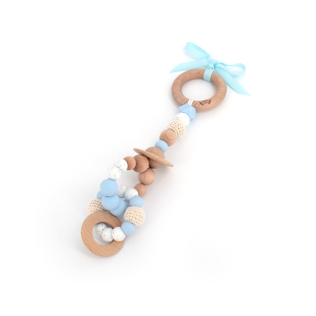 2-in-1 Teething Toy | Lil' Big Planet Teething Toy | Choose your colour