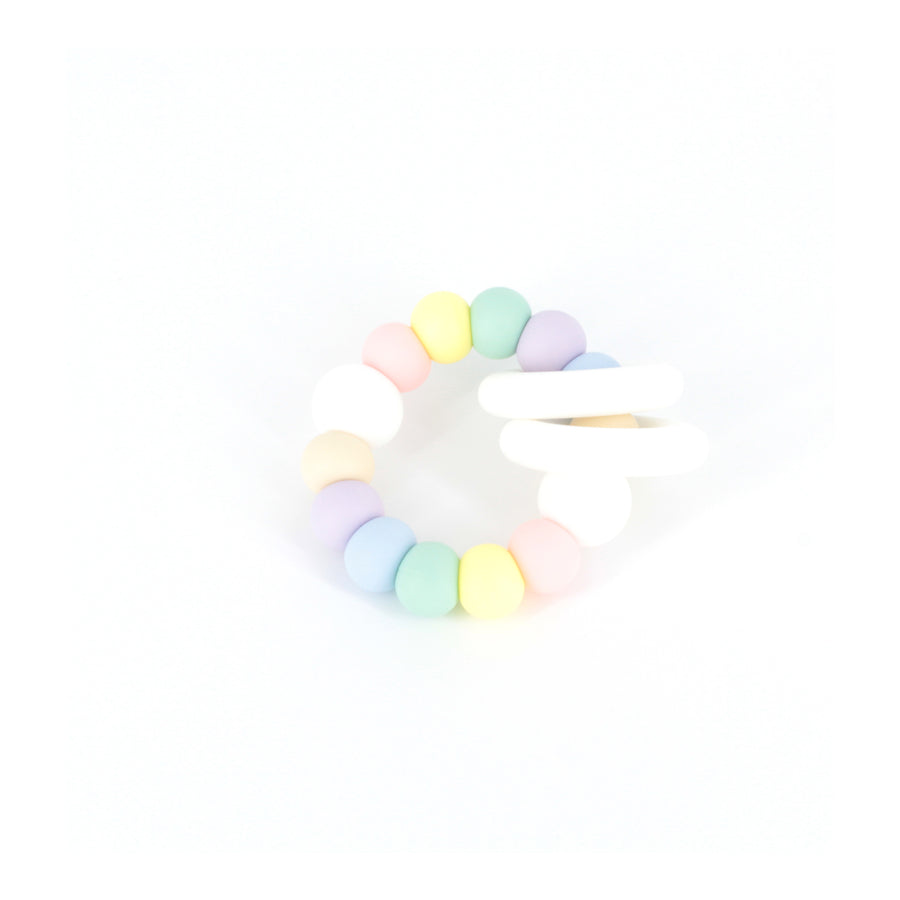 TRIO Teether in Pastel Rainbow
