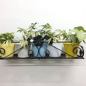 Metal wall hanging planters