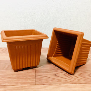 terracotta square pot 6 inches