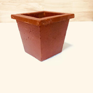 square mud pot  3''