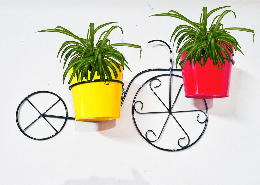 TRICYCLE DOUBLE POT METAL STAND