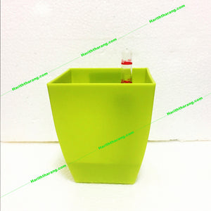 self watering pot - square