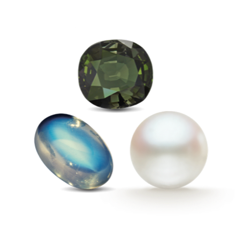 THE JUNE BIRTHSTONES: ALEXANDRITE, MOONSTONE & PEARL