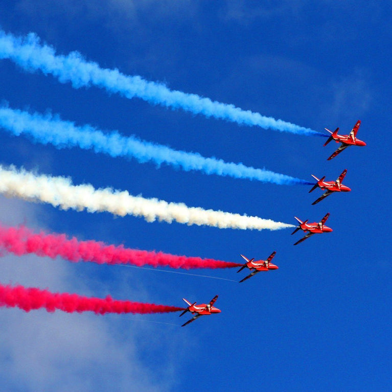The RAF Red Arrows can be seen at Eastbourne Airbourne on Friday 17th, Saturday 18th and Sunday 19th August 2018.