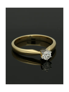 """The Beatrice Collection"" Diamond Solitaire Engagement Ring 0.25ct Round Brilliant Cut in 18ct Yellow Gold & Platinum"