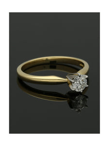 """The Beatrice Collection"" Diamond Solitaire Engagement Ring 0.33ct Round Brilliant Cut in 18ct Yellow Gold & Platinum"