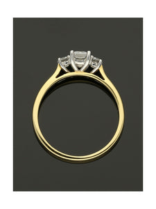 18ct Yellow & White Gold 0.60ct Diamond Three Stone Ring