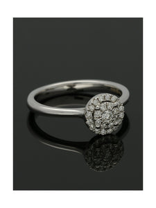 Diamond Cluster Ring 0.25ct Round Brilliant Cut in 18ct White Gold