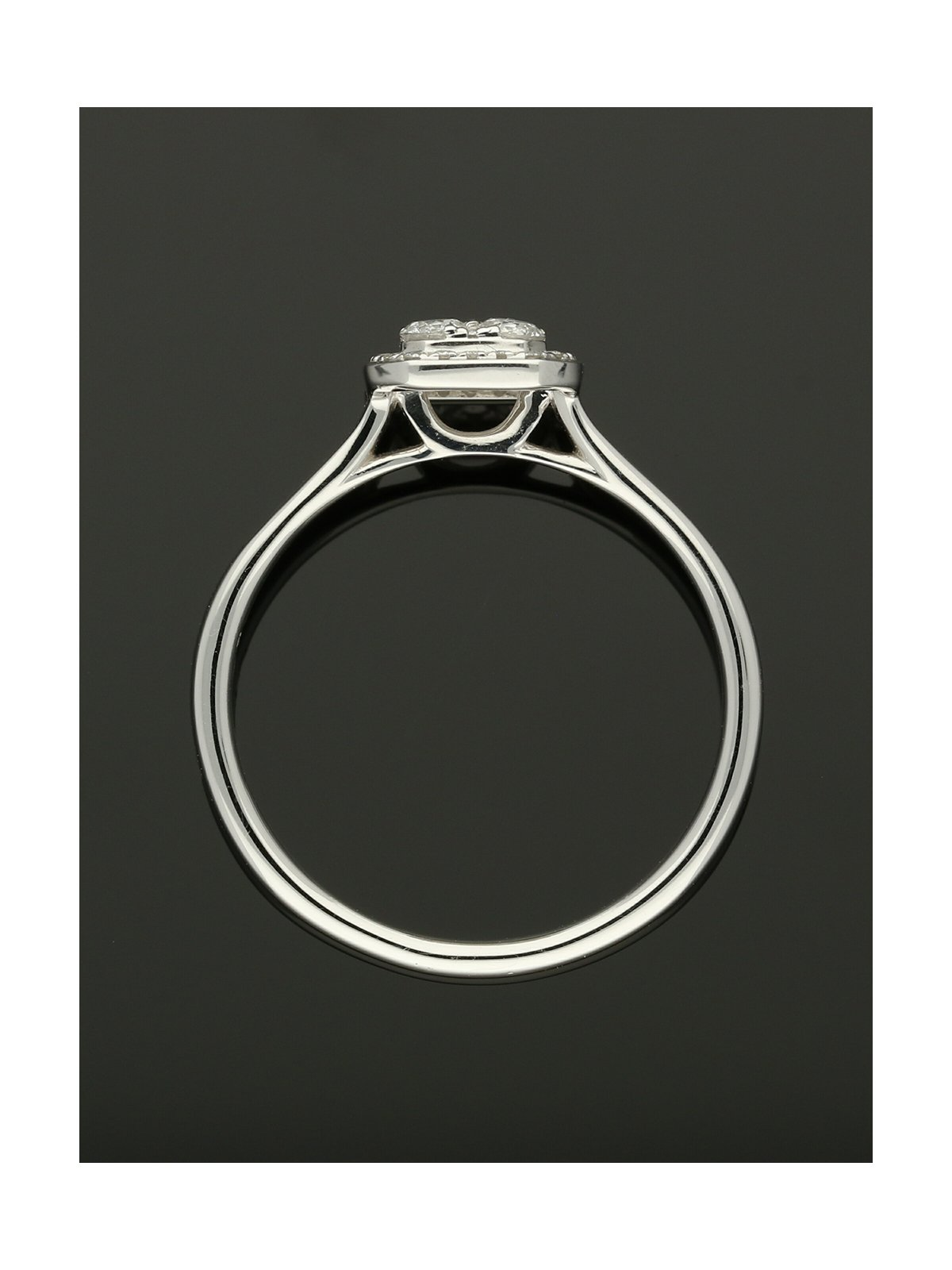 Diamond Cluster Ring 0.31ct in 18ct White Gold