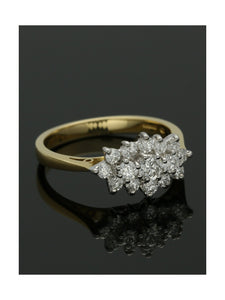 Diamond Cluster Ring 0.41ct Round Brilliant Cut in 18ct Yellow & White Gold